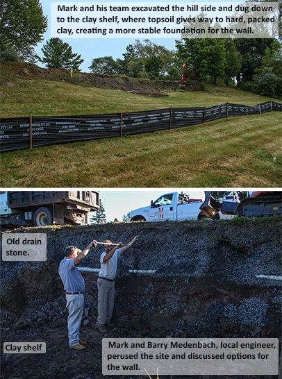 Building the retaining wall and French Drain