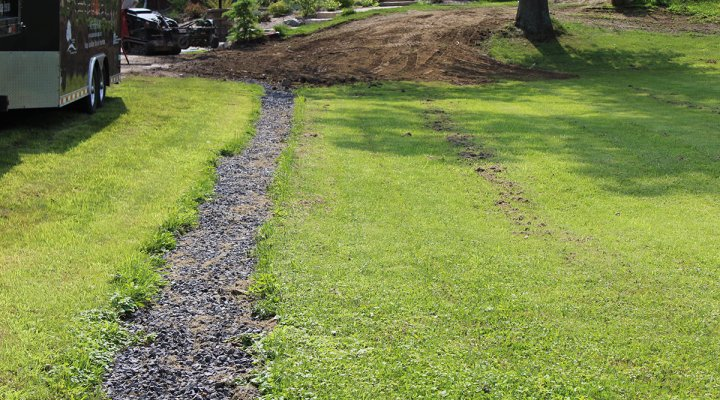 Identifying drainage issues in your landscape masseo for What does a french drain look like