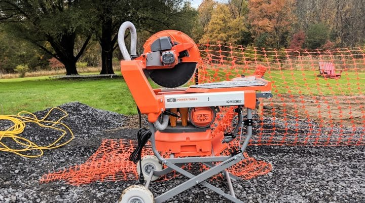 OSHA-Compliant Dustless Masonry Saw - Masseo Landscape, Inc.