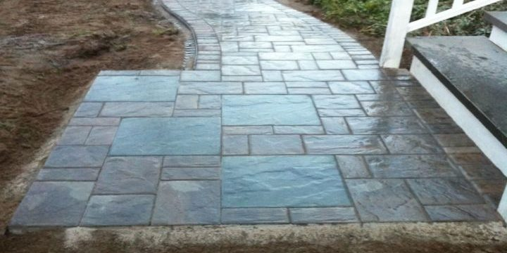 After walkway was installed.