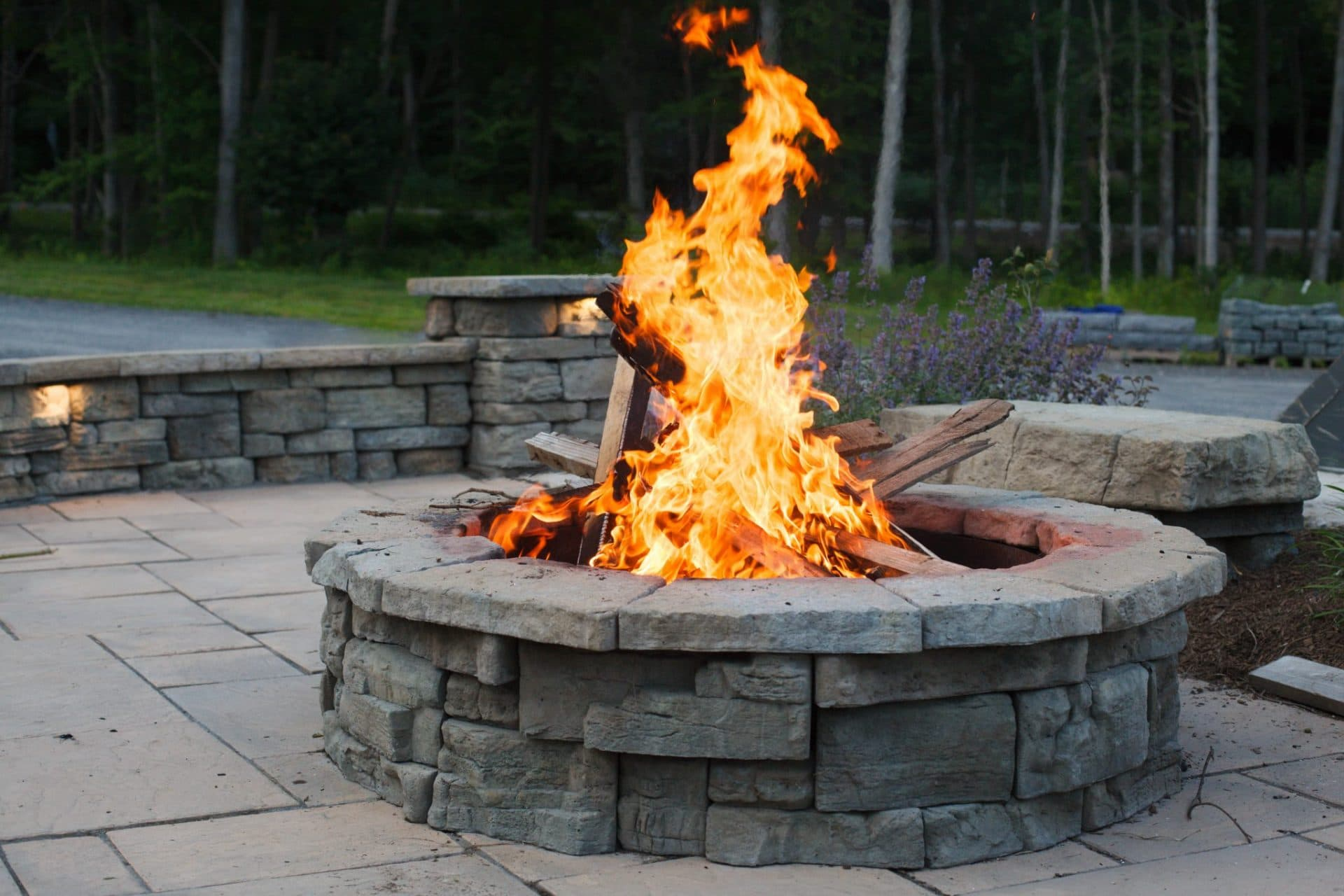 outdoor fire pits how much does a stone fire pit cost masseo landscape inc. Black Bedroom Furniture Sets. Home Design Ideas