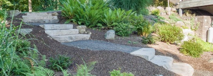 Rosetta Irregular Steps - Landscape Design by Masseo Landscape in New Paltz, NY.