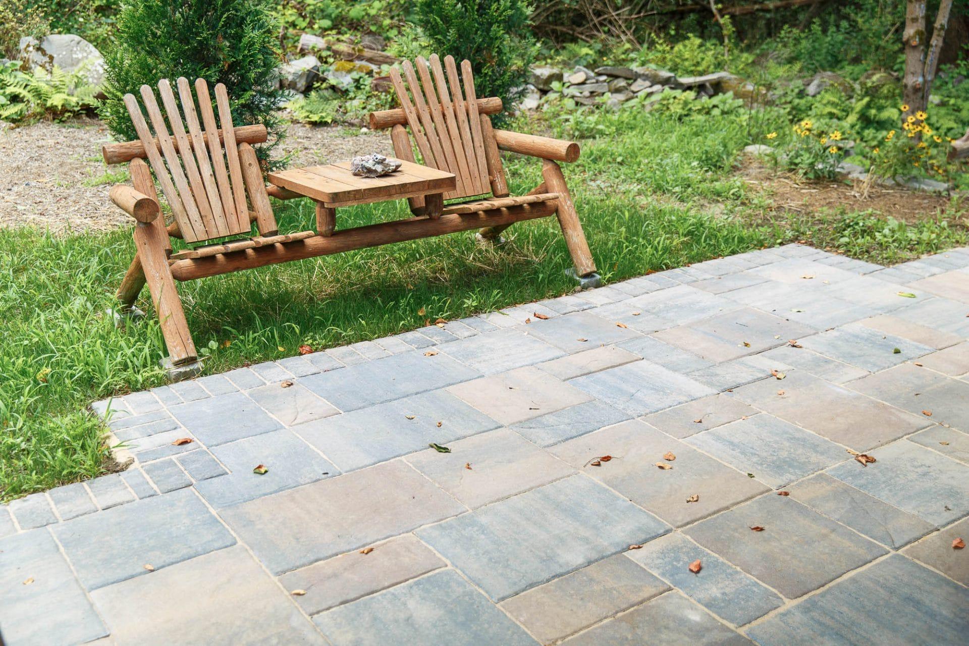 Belgard precast concrete patio with border course.