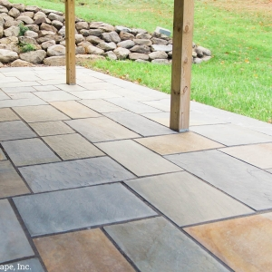 Natural bluestone patio in New Paltz, NY, installed by Masseo Landscape, Inc., Hudson Valley Landscaping Contractors