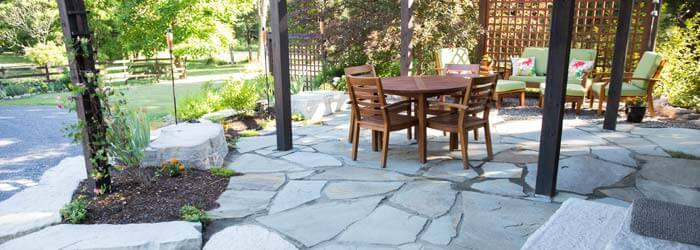 Natural Bluestone patio.