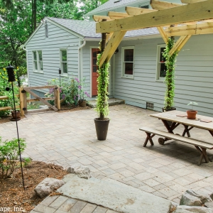 Cambridge Pavers patio and steps installed by Masseo Landscape, Inc., New Paltz Landscaper