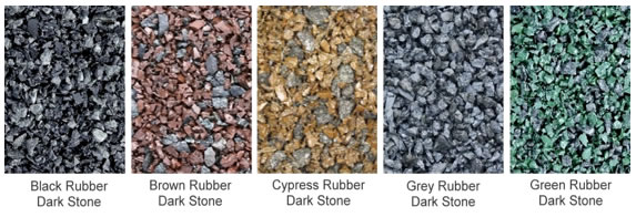Rubber mulch color samples