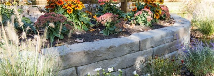 A landscaping bed in New Paltz, NY
