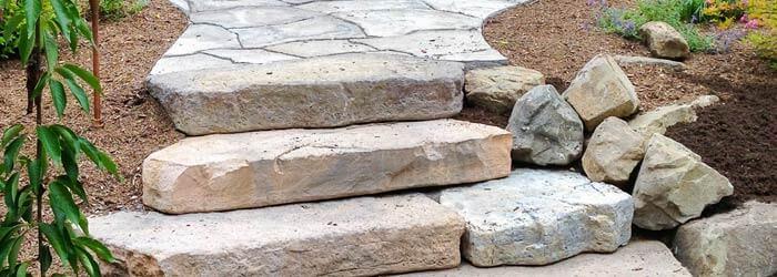 Walkway steps made from Rosetta Precast concrete.