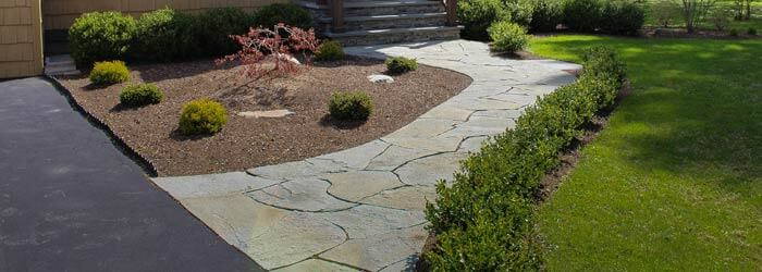 Fishtail design stone walkway - Natural Bluestone