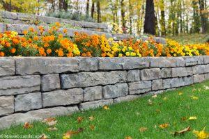 Rosetta Kodah Retaining Wall by Masseo Landscape, Inc. New Paltz Landscaper